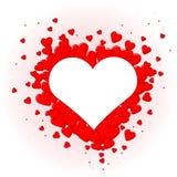 Nätta röda hjärtor för valentindag Royaltyfri Foto