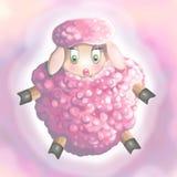 Nätta rosa får Arkivfoton