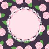 Nätta rosa rosor Arkivfoton