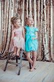 Nätta små flickor Royaltyfria Bilder