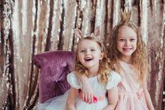 Nätta små flickor Royaltyfri Fotografi