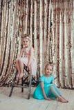 Nätta små flickor Fotografering för Bildbyråer