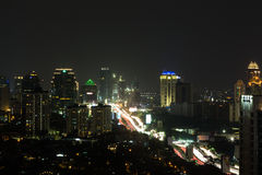 Nätterna av Jakarta Arkivfoton