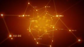 Nätverk av dataapelsinen stock illustrationer