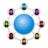 Nätverk av folk Arkivbild
