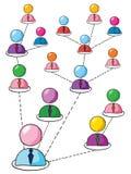 Nätverk av folk Arkivfoto