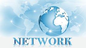 NÄTVERK - bokstäver 3D framme av bakgrundsaffären eller internetbegreppet av det globala nätverket vektor illustrationer