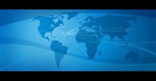 nätverk för 4 blue Fotografering för Bildbyråer