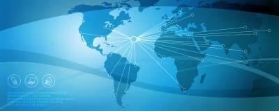 nätverk för 4 blue Arkivbilder