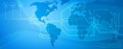 nätverk för 4 blue stock illustrationer