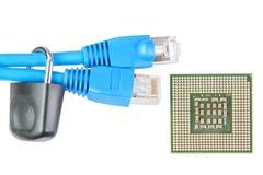 nätverk för kabellåsmikroprocessor till Royaltyfria Bilder