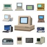 Nätverk för kontor för ram för bildskärm för PC för metall för telekommunikationsutrustning för skärm för datateknikvektorevoluti vektor illustrationer