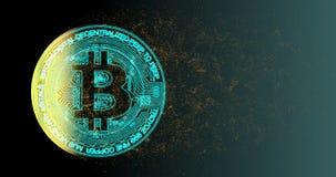 Nätverk för kryptering för crypto valuta för Bitcoin blockchain digitalt för världspengar royaltyfri illustrationer