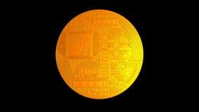 Nätverk för kryptering för crypto valuta för Bitcoin blockchain digitalt för världspengar, alfabetisk kanal vektor illustrationer