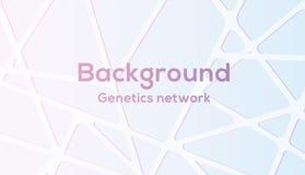 Nätverk för vektorbakgrundsgenetik i gullig färg vektor illustrationer
