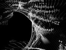 Nätverk från trianglar och linjer Det kan vara nödvändigt för kapacitet av designarbete Royaltyfri Foto