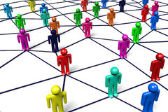 Nätverk kommunikation, socialt massmedia, internet…, royaltyfri illustrationer