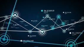 Nätverk och anslutningsblått vektor illustrationer