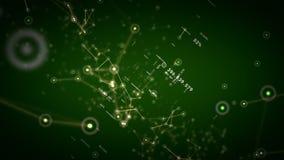 Nätverk och grön docka för data vektor illustrationer
