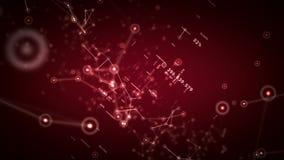 Nätverk och röd docka för data stock illustrationer