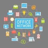 Nätverkande och kommunikation för affärskontor vektor illustrationer
