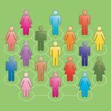 nätverkandefolk stock illustrationer