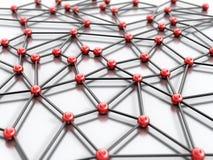Nätverksabstrakt begrepp Arkivbild