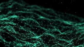 Nätverksanslutning pricker och fodrar teknologi för planet för telefon för jord för binär kod för bakgrund plexus Stor databakgru vektor illustrationer