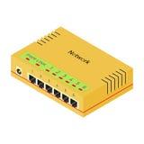 Nätverksapparatnav - strömbrytare Arkivfoto