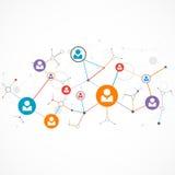 Nätverksbegrepp/socialt massmedia Arkivfoto