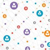 Nätverksbegrepp/socialt massmedia royaltyfri illustrationer