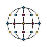 Nätverksfärg royaltyfri illustrationer