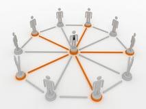 nätverksförbundet folk för folkmassa Vektor Illustrationer