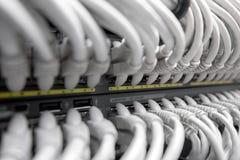 NätverksGigabitSmart strömbrytare Arkivfoto