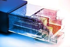 Nätverkskabel med optiskt för fiber Royaltyfria Bilder