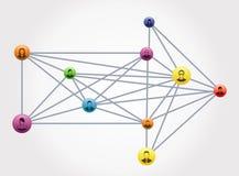 Nätverkslag som tillsammans flyttar sig Royaltyfria Foton