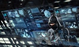 Nätverkssäkerhet och avskildhetsbrott Blandat massmedia Blandat massmedia royaltyfria foton