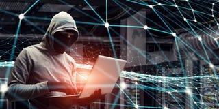 Nätverkssäkerhet och avskildhetsbrott Blandat massmedia Blandat massmedia arkivfoton
