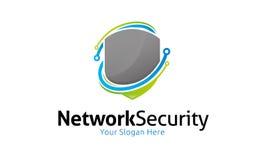 Nätverkssäkerhetslogo royaltyfri illustrationer