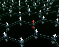 nätverkssamkväm Arkivbild