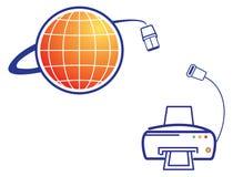 nätverksskrivare vektor illustrationer