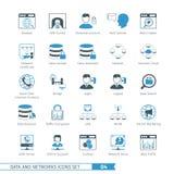 Nätverkssymbolsuppsättning 04 Arkivbild