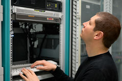 nätverkstekniker Arkivbild