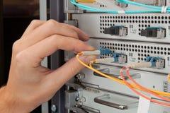 Nätverkstekniker Arkivfoto