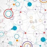 Nätverksteknologi/vetenskapskommunikationsbakgrund vektor illustrationer