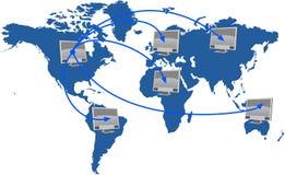 nätverksvärld Stock Illustrationer