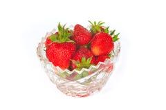 någon jordgubbevase Arkivbilder