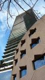 Någon modern arkitektur i Barceloneta, Barcelona, (Spanien) Royaltyfri Bild