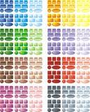 någon rengöringsduk för knappfärgbruk Arkivfoton