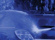 Tvagning bilen Fotografering för Bildbyråer